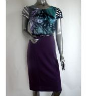 Zante - Dress - Two Tone Purple & Jade-Green /Code: Z113-P/J